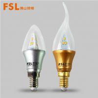 FSL佛山照明LED拉尾泡灯泡LED3W拉尾泡LED尖泡E14尖泡节能灯