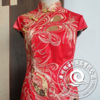 厂家直销定做 品牌库存服装 精彩抢购精美华贵丝绒旗袍