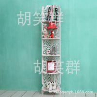 厂家直销白色多层雕花落地置物架简易组合架卫生间浴室架防水转角
