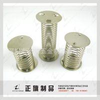 深圳厂家供应双面带片弹簧 摇摆公仔弹簧 车饰工艺弹簧