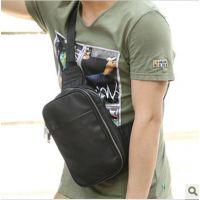 Zeroback 韩版男式胸包 皮质休闲包包