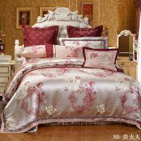 厂家直销家纺婚庆十件套批发 全棉大红高档结婚床上用品团购特价