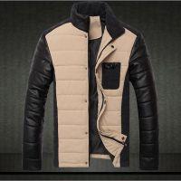 供应棉服韩版 冬装外套潮男装立领男士 加厚棉袄 男 卡其色