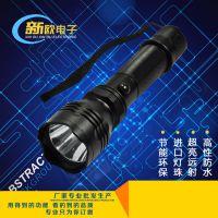 厂家热销 迷你强光手电 铝合金手电筒 18650锂电池充电手电筒