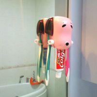 创意骨头狗牙膏挤压器 牙刷架卡通狗挤牙膏器牙刷架二合一 批发