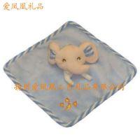 供应婴儿玩具 毛绒玩具 围兜 大象 手帕 围嘴 大象毛绒玩具 外贸出口