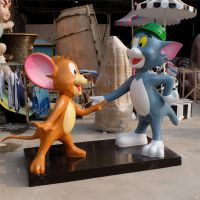 老鼠和猫雕塑|猫和老鼠雕塑|迪士尼卡通雕塑