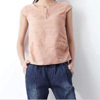 亚麻短袖T恤女2014夏装新款纯亚麻上衣打底衫棉麻短袖T恤女