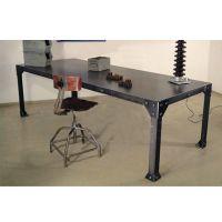 美式乡村复古铁艺餐桌 复古餐厅咖啡厅桌子 工业风味道餐桌可定做