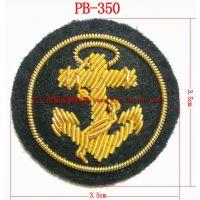 广州工厂供应 印度丝制服 手绣弹簧丝肩章徽章 质优价廉