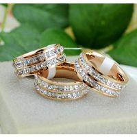 低价超闪水晶戒指满钻双排钻戒指锆石彩金镀18K玫瑰金男女情侣