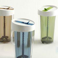 韩式创意米尚搅拌塑料杯星巴克咖啡杯户外情侣便携防烫杯果汁水杯