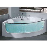 海盐宝隆洁具大玻璃冲浪按摩亚克力双人浴缸