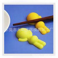 (定制)环保硅胶筷子垫/趴趴小人筷子架子/硅胶筷子架餐具/硅胶架