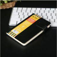 得力佳 办公文具笔记本子记事本商务a6 本皮面本 可携带工作笔记
