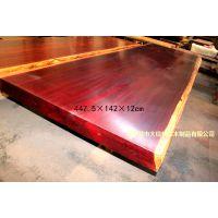 供应红花梨大板 巴花家具 原木大板 红木工艺品