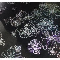 0.8mmPVC水晶板桌布 七彩夹花台布 水晶闪钻夹花软玻璃台布
