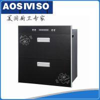 专业供应 黑色带花嵌入式消毒柜 双层高温嵌入式消毒柜批发 可oem