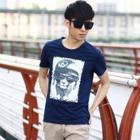 厂家直销秋装新款男装 男式圆领T恤 纯色韩版长袖打底衫 一件代发