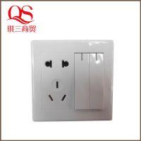 热销推荐 二位双带二三极插座 高品质塑料插座开关 K1-18-2