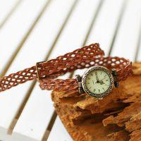 简约原创手工皮革编织复古手表 时尚精美男款手饰 热卖