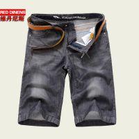 2014夏季新款 超薄柔软牛仔短裤 休闲五分男士直筒修身牛仔裤男
