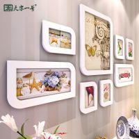 林林相框组合创意挂墙 画框相片欧式相框相架宜家木质照片框