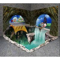 供应专业订制3D全景墙面立体地画