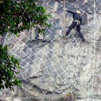 广州幼儿园山体边坡整治工程材料——柔性防护网 边坡绿化网