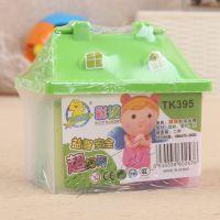 晶晶12色桶装彩泥  益智玩具 配模具彩泥 彩泥玩具 TK395