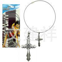 海贼王特尔法加罗标志十字架项链 动漫项链 日本动漫周边产品批发
