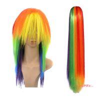 彩色假发 斜刘海 非主流假发 长发 直发 (NWG0CP60947-MU2)