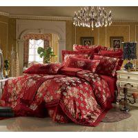 结婚床上用品 浪漫之约全棉绣花婚庆十件套批发 多件套 一件起批