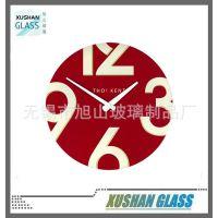 美观钢化玻璃工艺钟,挂钟,30cm直径