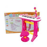 宝丽3132A明日之星多功能电子琴益智玩具带麦克风儿童钢琴升级版