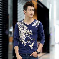 2014秋装新款男款士民族风中国风打底衫韩版长袖厂家直销