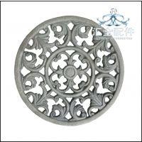 泉州铁艺 铸铁圆板花 植物配件铸铁工艺品配件