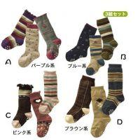 一件代发 组合袜03儿童袜子/点胶中筒袜/防滑点胶袜/童袜(1-4岁)