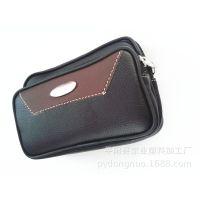 男士高档pu 拼皮手机套 手机包 腰包 穿皮带单层手机保护套