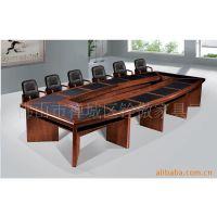 广州实木会议桌双层会议台 高档油漆贴木皮办公台 会议台桌子