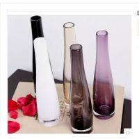 厂家直销 现代简约透明水晶玻璃花瓶 小花插花器餐桌摆件 插花瓶
