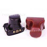 e-cool相机包适用松下GF2专用皮套 14-42镜头 GF2长焦皮套定做