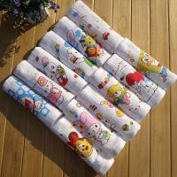 蜂巢双层小方巾口水巾 婴幼儿纱布手帕 卡通图案花色多样30*30cm