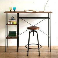 2014新款霸头美式乡村铁艺书桌椅组合时尚优雅学生电脑桌椅批发