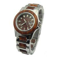 外贸新款木手表 厂家供应优质檀木手表 不锈钢木质手表 高档手表