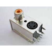 供应原装进口4P MINI DIN连接器S端子接头四芯插座迷你叮 AV莲花插座