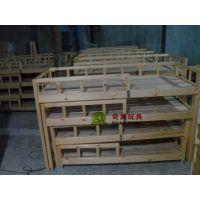 厂家直销 童床 家具 樟子松四层床 四层推拉床 单人床 质量保证