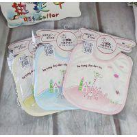 2014新款多朵牛品牌婴儿口水巾两只长颈鹿围嘴A8027