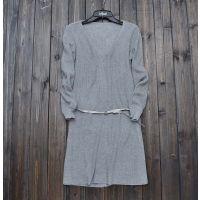 2015春季外贸原单韩版长袖纯色修身中长款V领纯纯棉打底衫