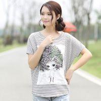 2014夏装新款女装韩版宽松显瘦短袖t恤打底衫女夏潮 一件代发